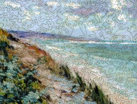 Cliffs by the Sea at Trouville - Liberty Puzzles - 3