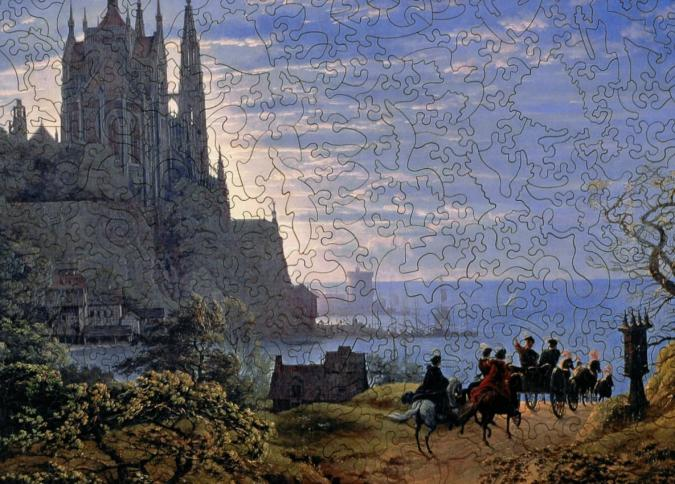 Gothic Church on a Rock by the Sea - Liberty Puzzles - 10