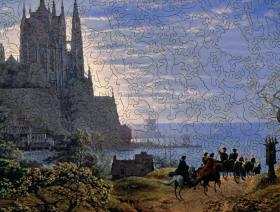 Gothic Church on a Rock by the Sea - Liberty Puzzles - 3