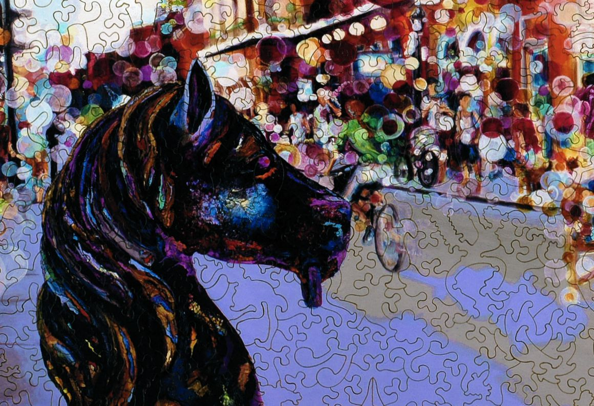 French Quarter Horse Post Wooden Jigsaw Puzzle Liberty