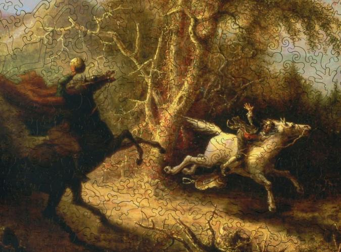 The Headless Horseman Pursuing Ichabod Crane - Liberty Puzzles - 8
