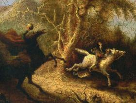 The Headless Horseman Pursuing Ichabod Crane - Liberty Puzzles - 3