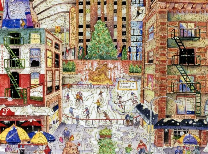 Light Snowfall in New York - Liberty Puzzles - 8