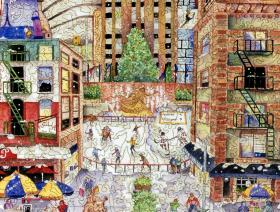 Light Snowfall in New York - Liberty Puzzles - 3