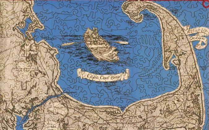 A Map of Interesting Cape Cod - Liberty Puzzles - 11