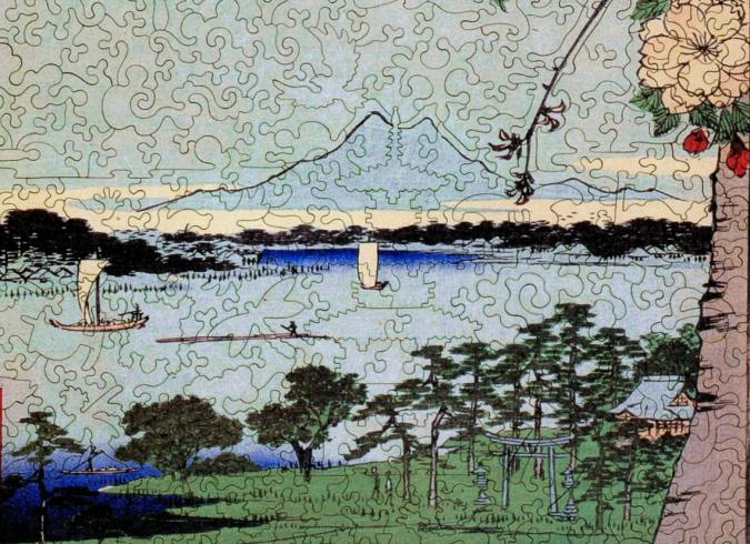 Suijin Shrine and Massaki on the Sumida River - Liberty Puzzles - 10