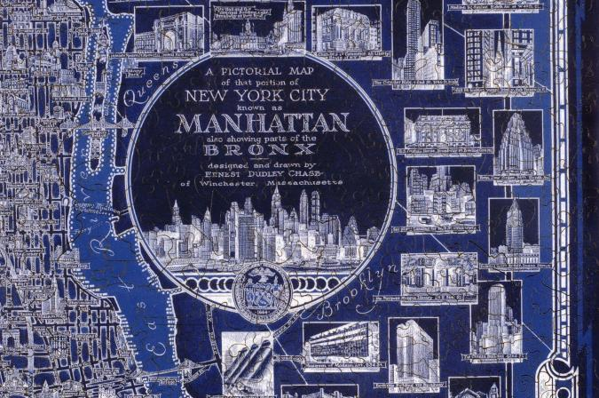 New York City Pictorial Map - Liberty Puzzles - 8