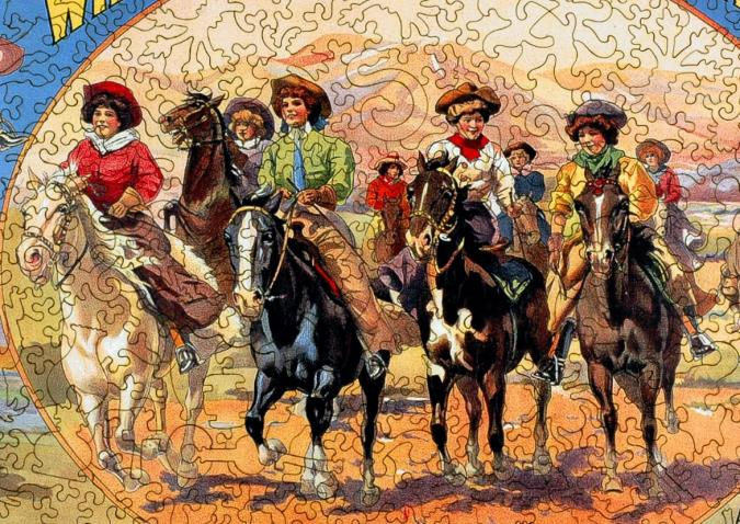 A Bevy of Wild West Women - Liberty Puzzles - 8