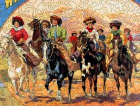 A Bevy of Wild West Women - Liberty Puzzles - 3