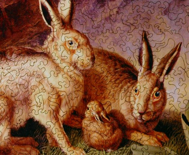 Hares and Leverets in a Rocky Lair - Liberty Puzzles - 9