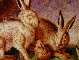 Hares and Leverets in a Rocky Lair - Liberty Puzzles - 4