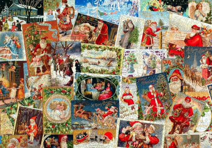 Vintage Christmas Postcards - Liberty Puzzles - 9