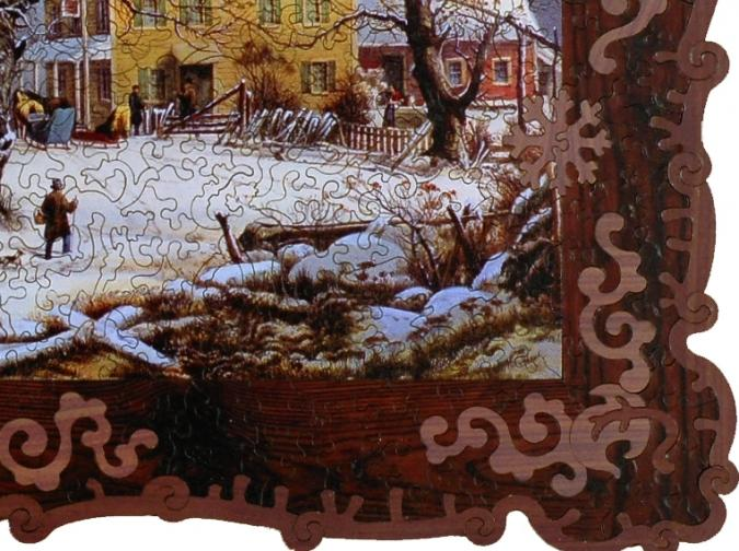 Winter in the Country, A Cold Morning - Liberty Puzzles - 9