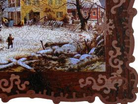 Winter in the Country, A Cold Morning - Liberty Puzzles - 4