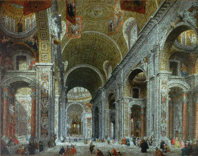 Interior of St. Peter's, Rome - Liberty Puzzles - 10