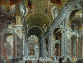 Interior of St. Peter's, Rome - Liberty Puzzles - 5