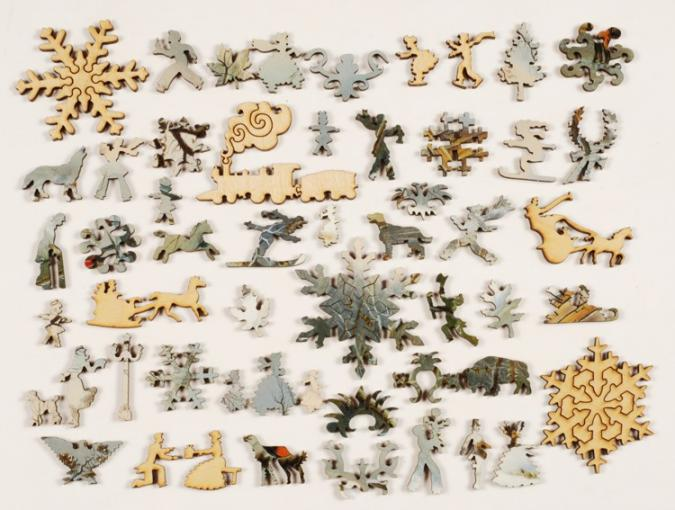 Winter in the Country: Gathering Ice - Liberty Puzzles - 10