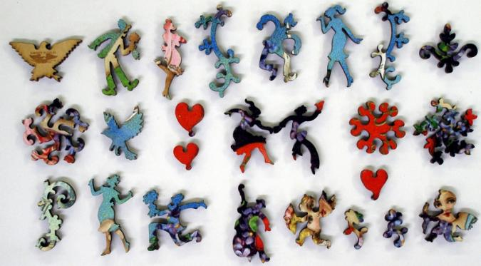 Valentine with Cherubs - Liberty Puzzles - 10