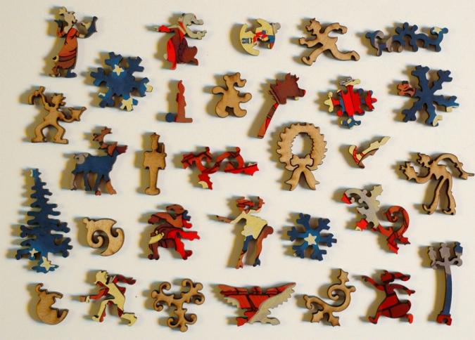 Up on the House Top - Liberty Puzzles - 10