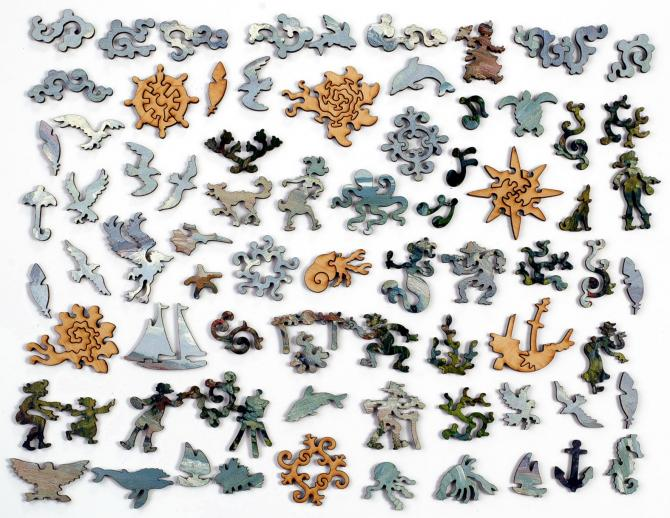 Cliffs by the Sea at Trouville - Liberty Puzzles - 10