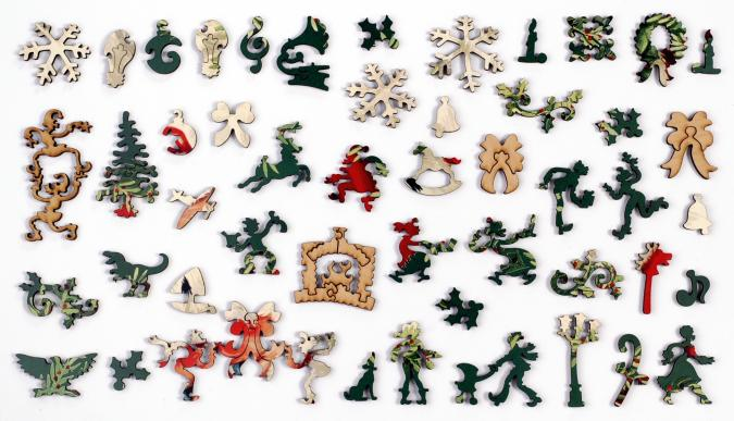 Mistletoe and Holly - Liberty Puzzles - 13
