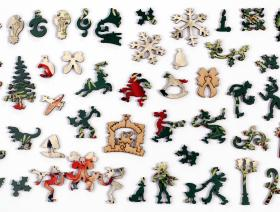 Mistletoe and Holly - Liberty Puzzles - 5
