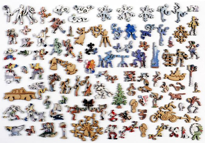 Light Snowfall in New York - Liberty Puzzles - 10
