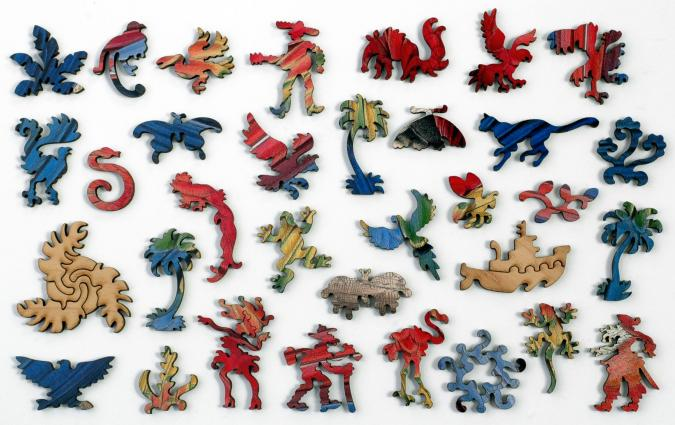 Red and Yellow Macaw - Liberty Puzzles - 12