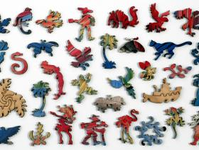 Red and Yellow Macaw - Liberty Puzzles - 5