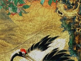 Crane and Rising Sun - Liberty Puzzles - 2