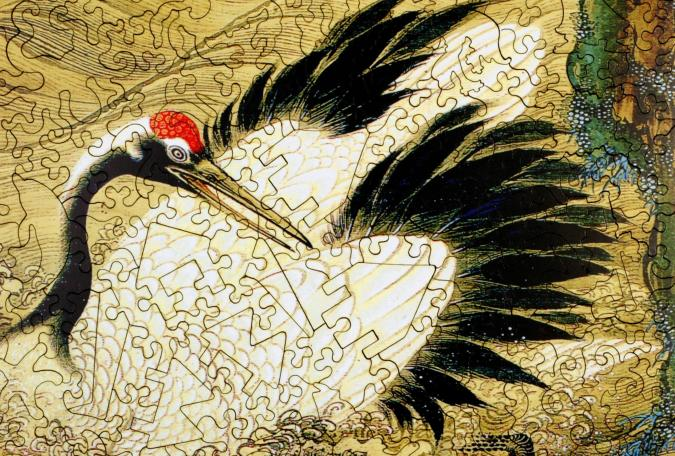 Crane and Rising Sun - Liberty Puzzles - 10