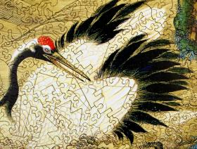 Crane and Rising Sun - Liberty Puzzles - 3