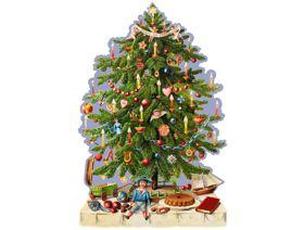 Victorian Christmas Tree - Wooden Jigsaw Puzzle
