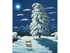 Foxes in the Moonlight - Wooden Jigsaw Puzzle