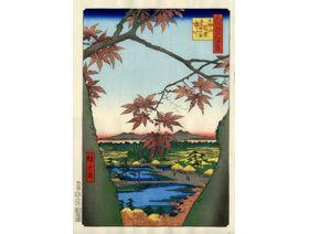 Maple Trees with Tekona Shrine - Wooden Jigsaw Puzzle