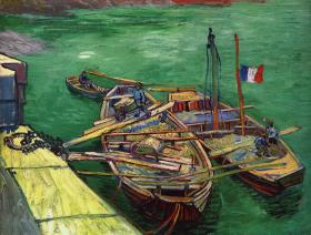 Barges on the River Rhone - Wooden Jigsaw Puzzle