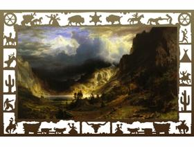 Storm in the Rocky Mountains - Wooden Jigsaw Puzzle