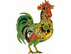 Rooster - Wooden Jigsaw Puzzle