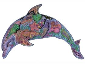Dolphin - Wooden Jigsaw Puzzle