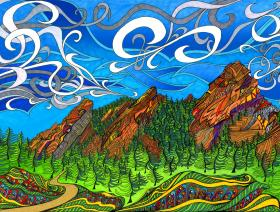 Flatirons - Wooden Jigsaw Puzzle