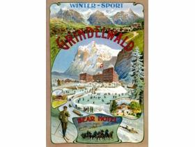 Grindelwald Winter Sport - Wooden Jigsaw Puzzle
