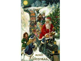 Santa Claus Train - Wooden Jigsaw Puzzle