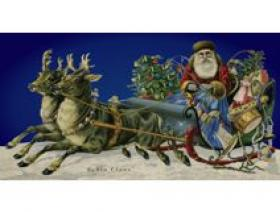 Santa with Reindeer - Wooden Jigsaw Puzzle