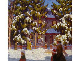 Winter Afternoon, City Street, Toronto - Wooden Jigsaw Puzzle