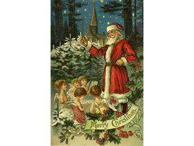 Santa with Angels - Wooden Jigsaw Puzzle