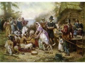 The First Thanksgiving, 1621 - Wooden Jigsaw Puzzle