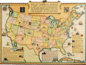 Map of America's Making - Wooden Jigsaw Puzzle