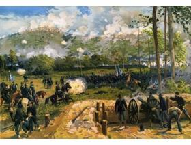 Battle of Kennesaw Mountain - Wooden Jigsaw Puzzle