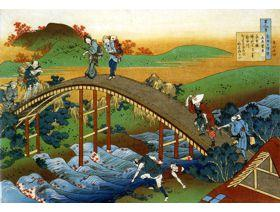 People Crossing an Arched Bridge - Wooden Jigsaw Puzzle
