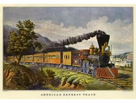 American Express Train - Wooden Jigsaw Puzzle